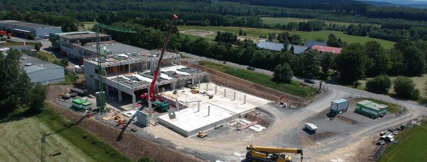 Dronenbild vom Neubau